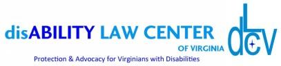 disAbility Law Center or VIrginia logo